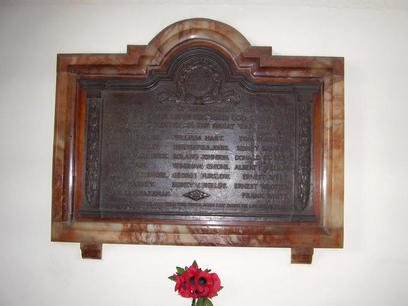 Darlington Street Methodist Church Roll of Honour